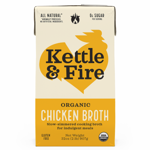 Kettle & Fire Traditional Chicken Broth Perspective: front