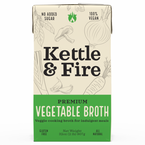 Kettle & Fire Premium Vegetable Cooking Broth Perspective: front