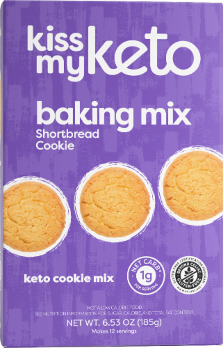 Kiss My Keto Shortbread Cookie Baking Mix Perspective: front