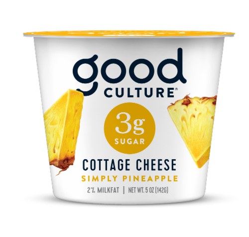 Good Culture 3G Sugar Pineapple Cottage Cheese Perspective: front