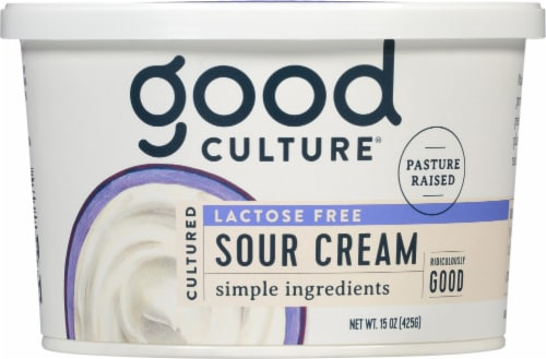 Good Culture Lactose Free Sour Cream Perspective: front