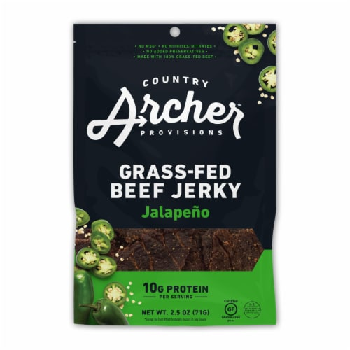 Country Archer Sweet Jalapeno Beef Jerky Perspective: front