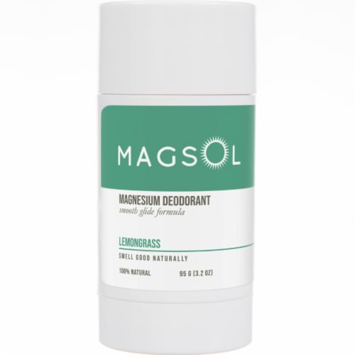 Magsol Lemongrass Magnesium Deodorant Perspective: front