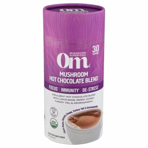 Om® Mushroom Organic Hot Chocolate Blend Powder Perspective: front