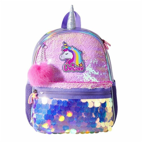 Unicorn Sequin Backpack Perspective: front