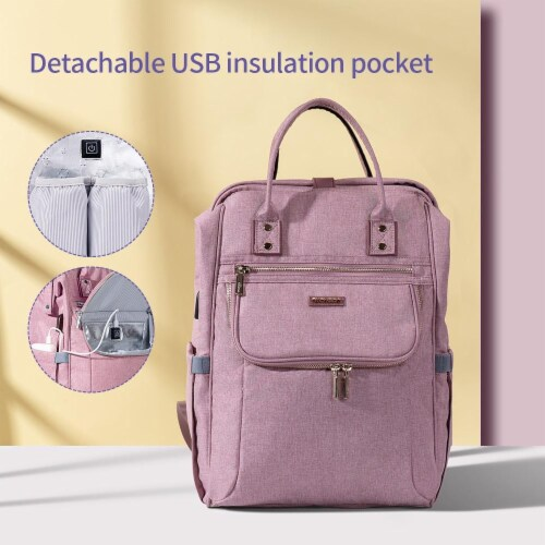 Easy Open Diaper Backpack Perspective: front