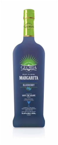 Rancho La Gloria Blueberry Ready-to-Drink Margarita Wine Cocktail Perspective: front