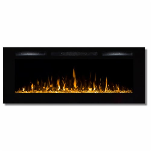 Regal Flame LW2050CC1 50in Fusion Crystal Built-in Ventless Wall Mounted Electric Fireplace Perspective: front