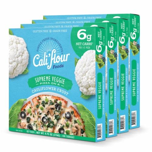 Cali'flour Foods Supreme Veggie Pizza Perspective: front