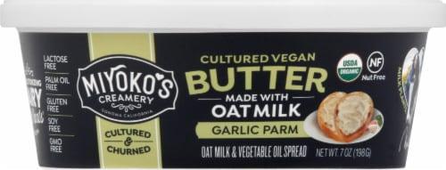 Miyoko's Creamery Organic Garlic Parm Oatmilk Butter Perspective: front