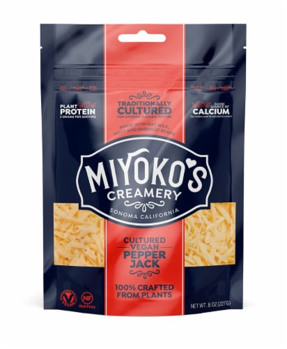 Miyoko's Shredded Pepper Jack Cheese Perspective: front