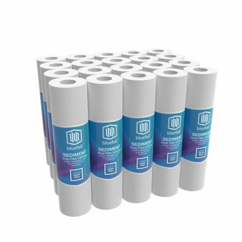 """5 Micron Wholehouse Sediment Water Filter  Replacement Cartridge 10"""" x 2.5""""  Value Pack (20) Perspective: front"""