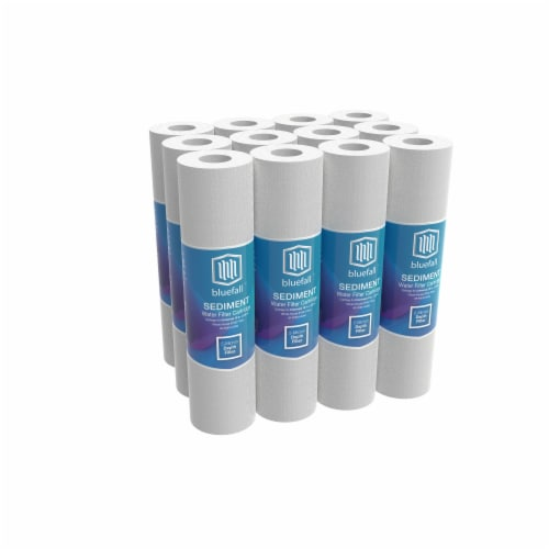 """5 Micron Wholehouse Sediment Water Filter  Replacement Cartridge 10"""" x 2.5""""  Value Pack (12) Perspective: front"""