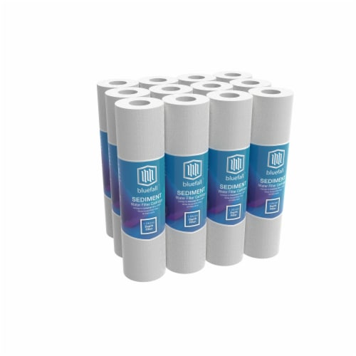 "1 Micron Wholehouse Sediment Water Filter  Replacement Cartridge 10"" x 2.5""  Value Pack (12) Perspective: front"