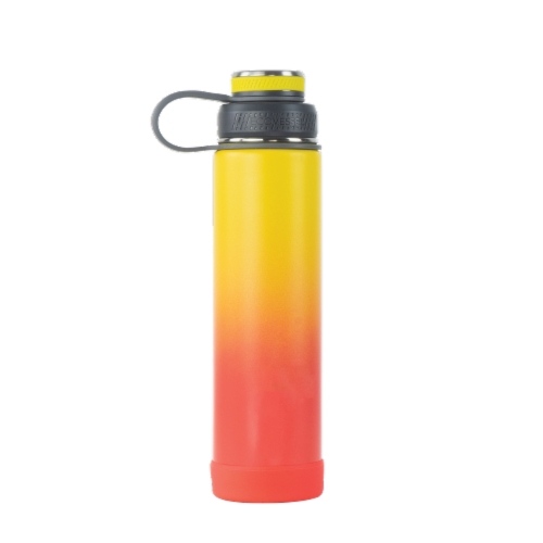EcoVessel TriMax® Insulated Stainless Steel Water Bottle - Rising Sun Ombre Perspective: front