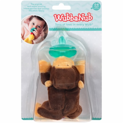 WubbaNub Monkey Infant Pacifier Perspective: front