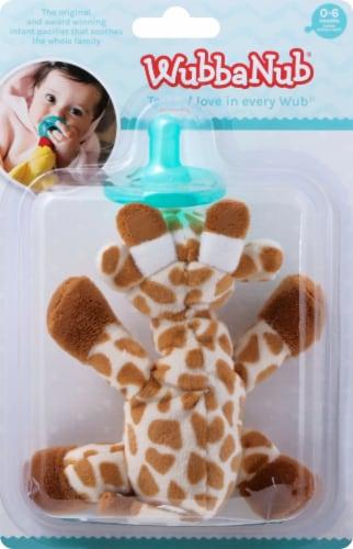 WubbaNub Giraffe Infant Pacifier Perspective: front
