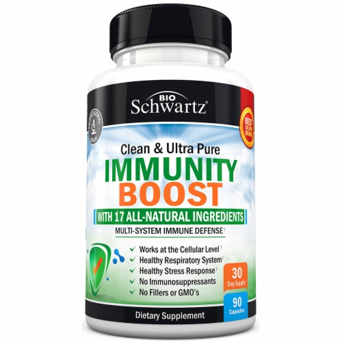 BioSchwartz Clean & Ultra Pure Immunity Boost Capsules Perspective: front