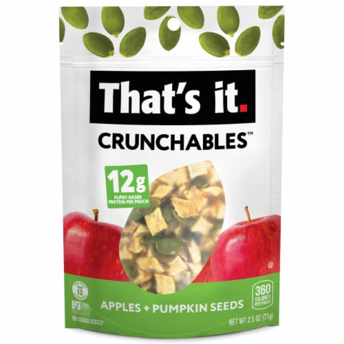 That's It Crunchables Organic Apples + Pumpkin Seeds Perspective: front