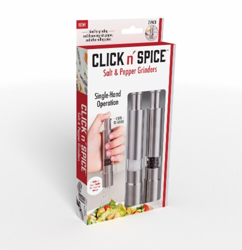 Click n' Spice Salt and Pepper Grinders Perspective: front