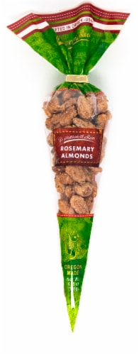 Nuts on the Run Rosemary Almonds Cone Perspective: front