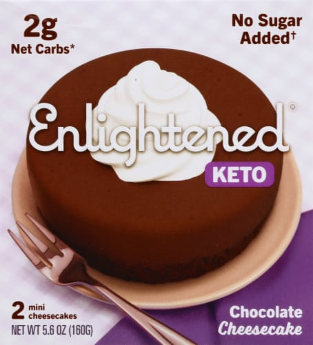Enlightened Mini Keto Chocolate Cheesecakes Perspective: front