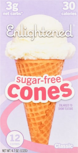 Enlightened Sugar-Free Classic Cones Perspective: front