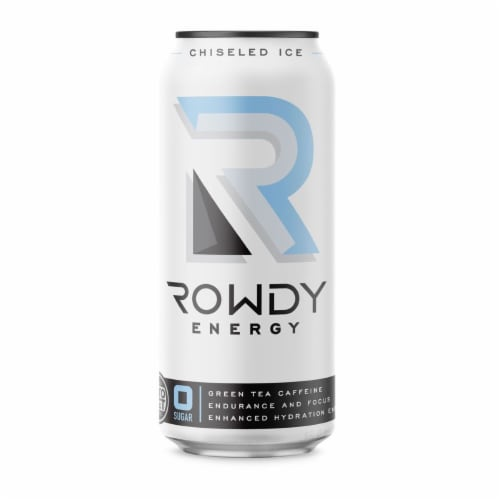 Rowdy Energy Chiseled Ice Energy Drink Perspective: front