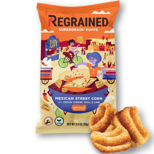 ReGrained Supergrain Mexican Street Corn Puff Perspective: front