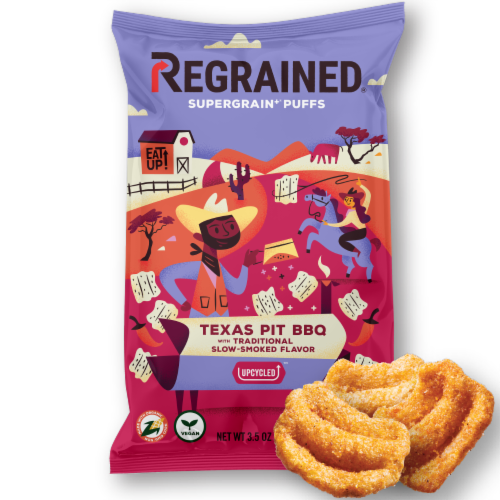 ReGrained Supergrain Texas Pit BBQ Puff Perspective: front