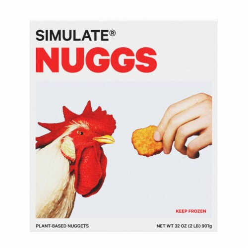 SIMULATE Nuggs Plant Based Chicken Nuggets Perspective: front