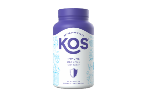 KOS Immune Defense with EpiCor Capsules Perspective: front