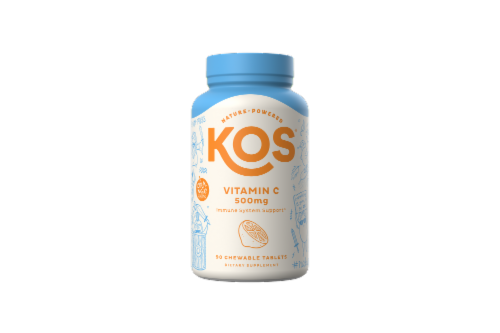 KOS Vitamin C 500mg Chewable Tablets Perspective: front