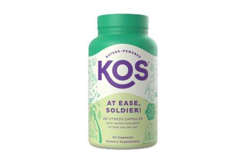 KOS At Ease Soldier! De-Stress Capsules Perspective: front