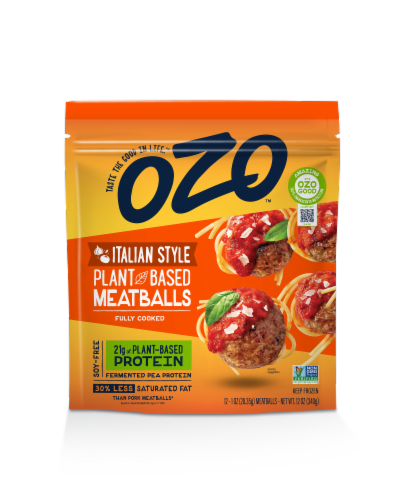 OZO Italian Style Plant Based Meatballs Perspective: front