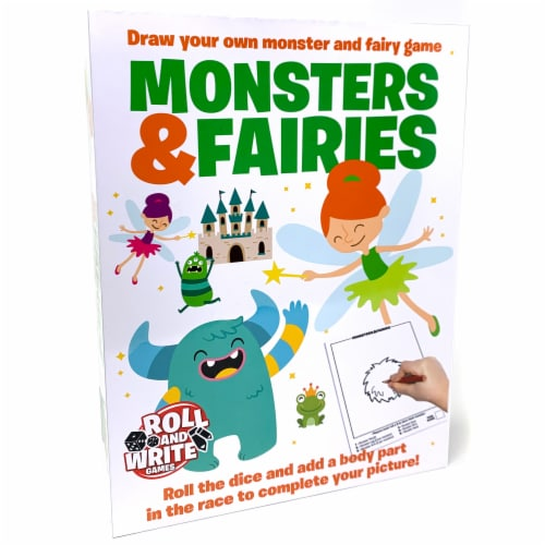 SolidRoots Roll and Write Games Monsters & Fairies Game Perspective: front