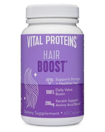 Vital Proteins Hair Boost Capsules 200mg Perspective: front