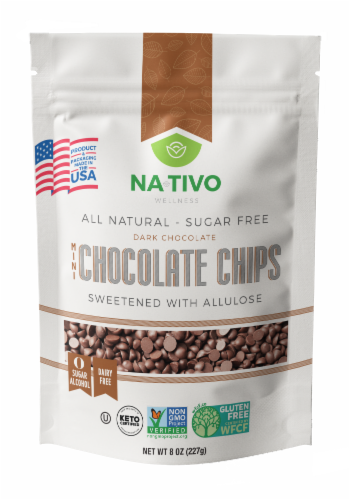 Nativo Allulose Chocolate Chip Morsels Perspective: front