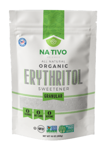 Nativo Organic Erythritol Granular Sweetener Perspective: front