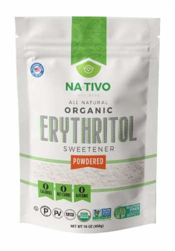 Nativo Organic Erythritol Powder Sweetener Perspective: front