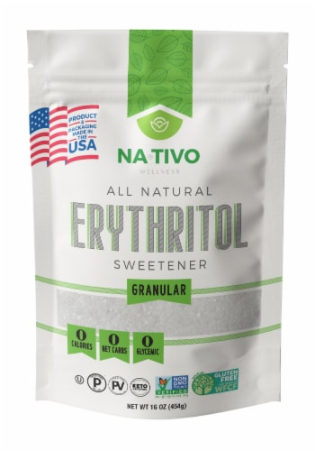 Nativo Erythritol USA Sweetener Perspective: front
