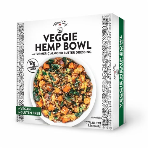 Tattooed Chef™ Veggie Hemp Bowl Frozen Meal Perspective: front