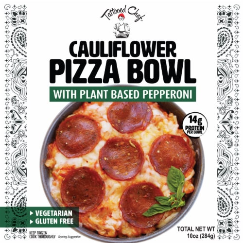 Tattooed Chef™ Plant Based Pepperoni Cauliflower Pizza Bowl Perspective: front