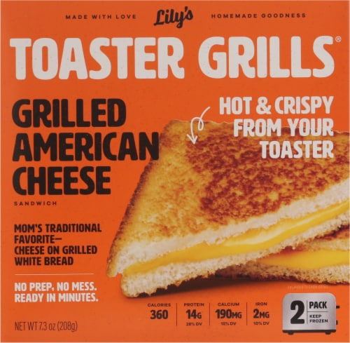 Lily's Toaster Grills Grilled American Cheese Sandwich Perspective: front