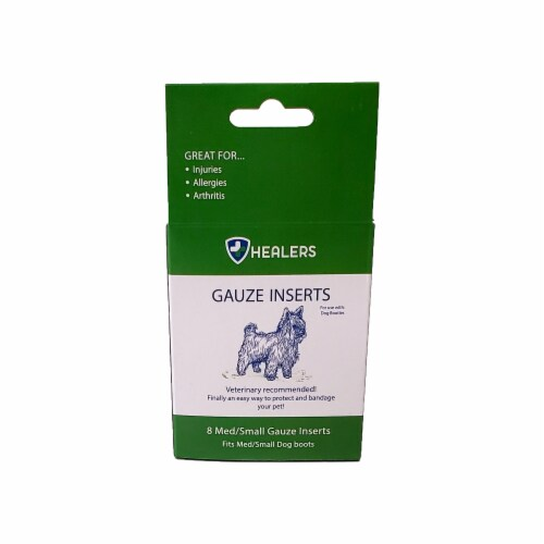 Healers Small-Medium Pet Gauze Inserts Perspective: front