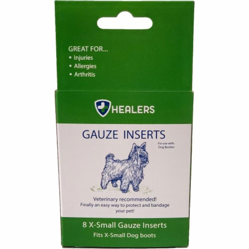 Healers XSmall/Small Gauze Pad Inserts Perspective: front