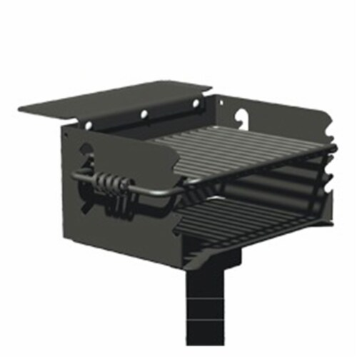 Pilot Rock Q-20 B2 Single Commercial Grade 20 Inch Park Style Charcoal Grill Perspective: front