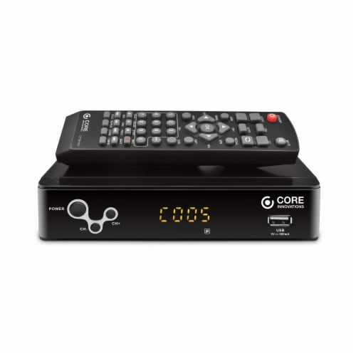 Core Innovations Digital TV Converter and DVR Box - Black Perspective: front