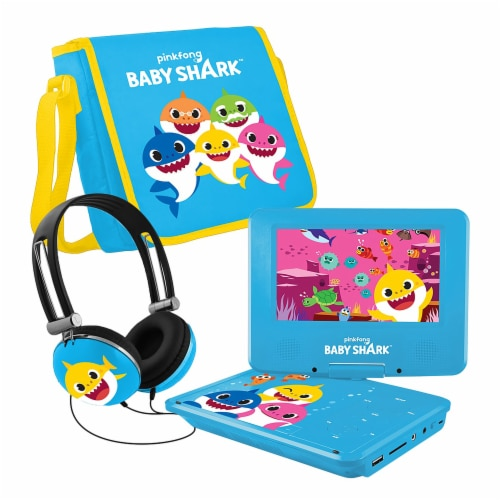 Pinkfong Baby Shark Portable DVD Player - Blue/Yellow Perspective: front
