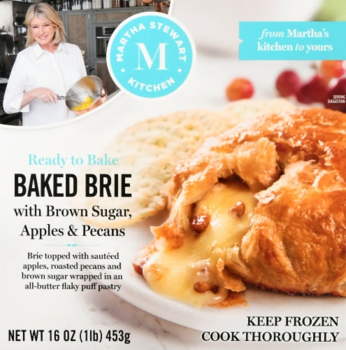Martha Stewart Brown Sugar Apple and Pecan Baked Brie Perspective: front